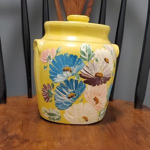 🏺Ransburg vintage Rare cookie jar bright yellow